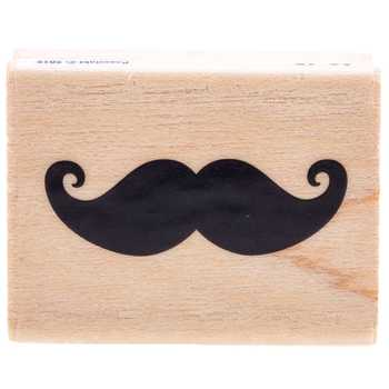 Tiny Mustache Rubber Stamp
